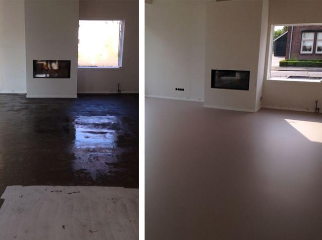 Gietvloer in realisatie Heijthuijsen Limburg #woonbeton #berkersvloeren #gietvloeren #betonlook