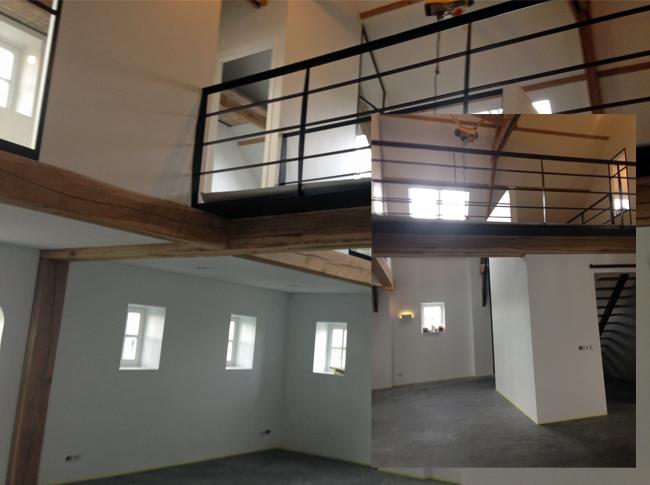 Gepleisterde cementdekvloer voorzien van een transparante matte coating - woonbeton Tilburg